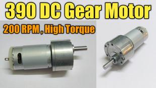 390 DC Gear Motor Full Specification