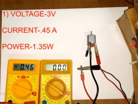 TESTING ALL TYPES OF DC MOTORS 3-24 Volts