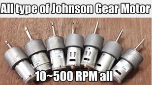 All types of Johnson Gear Motor, 10-500 RPM, Torque, Current, Volt All Details