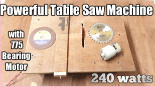 Powerful Table Saw Machine with 24v 775 Bearing Motor 240 watts