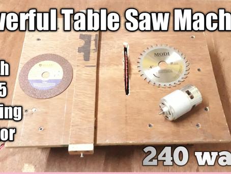 Powerful Table Saw Machine with 24v 775 Bearing Motor 240 watts