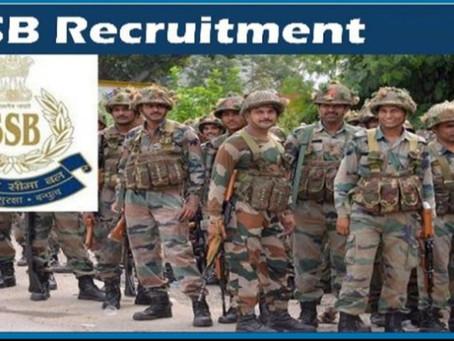 SSB recruitment- 1522 Constable posts in Sashastra Seema Bal.