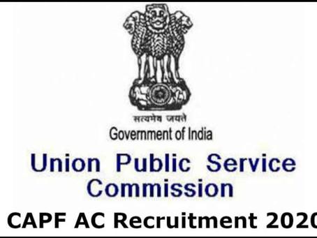 UPSC CPF AC recruitment- 209 Assistant Commandant  posts.