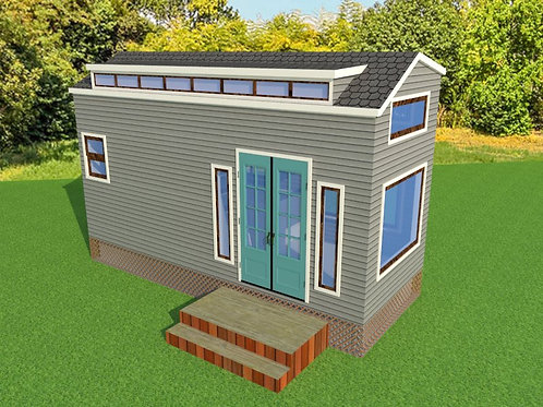 StuckerInc. Modern Tiny House Plan Design Easy to Build 1 Bed 1 Bath 250s