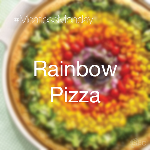 #MeatlessMonday: Rainbow Pizza