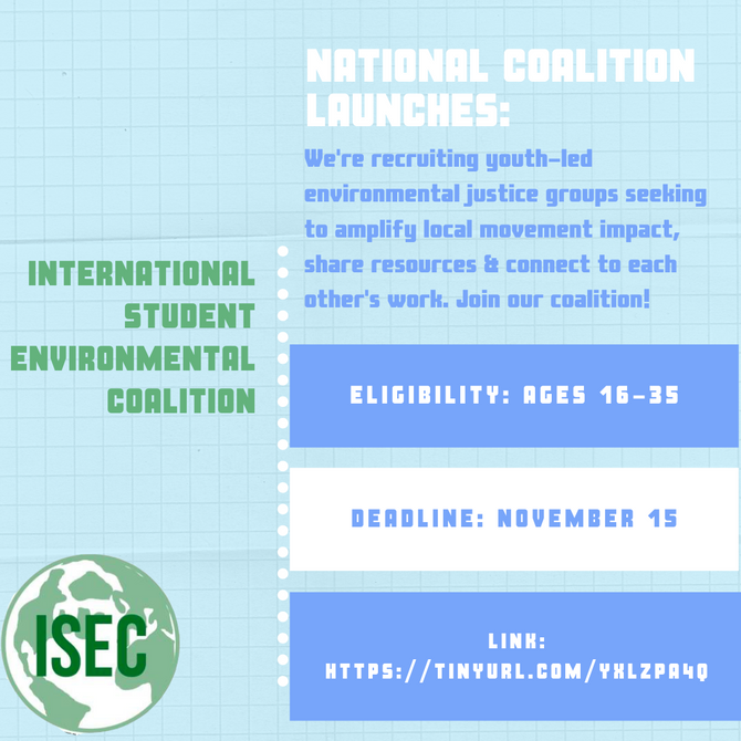 Call for Applications for Youth Organizations: National Climate Justice Coalitions