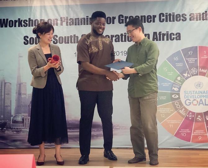 David Saah Nyumah Represents ISEC in Shanghai