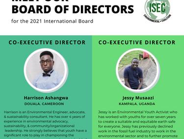 Introducing ISEC's New Co-Executive Directors