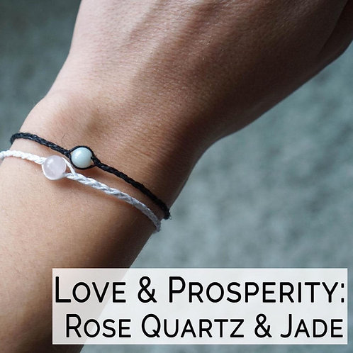 Healing Crystal Hemp Bracelet