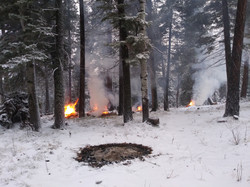 Winter Pile Burning - Los Ranchitos