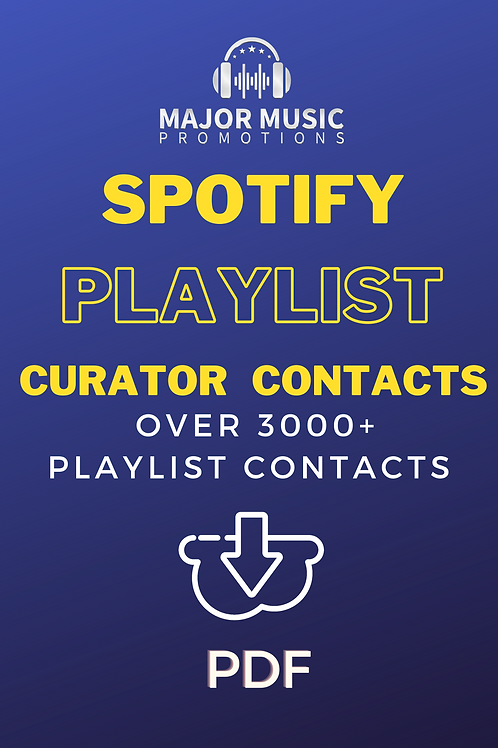 Spotify Playlist  Curator Contacts