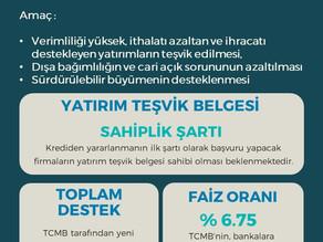 Türkiye Cumhuriyeti Merkez Bankasın'dan çok önemli bir destek hamlesi geldi !