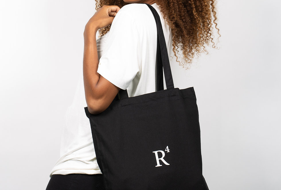 R4 CERTIFIED ORGANIC COTTON TOTE BAG BLACK