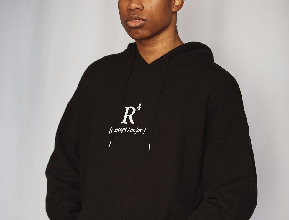 R4 CONCEPT HEAVYWEIGHT HOODIE BLACK BEAUTY