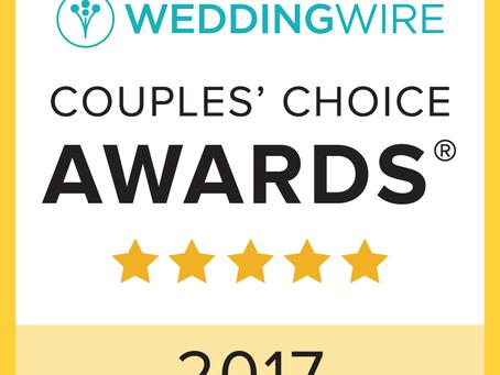 We Earned The Couple's Choice Award