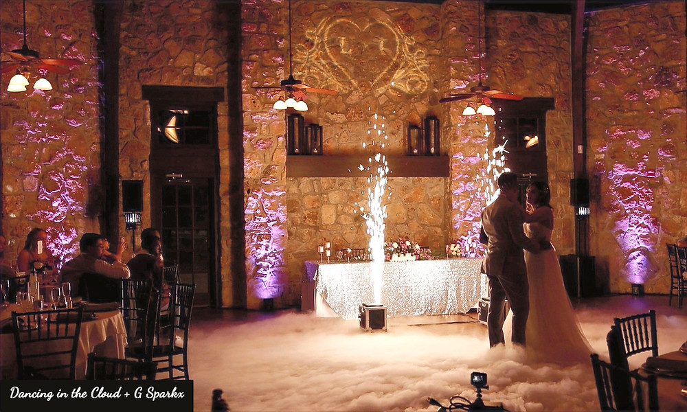 Dancing in the Cloud, G Sparkx, Uplighting, Gobo