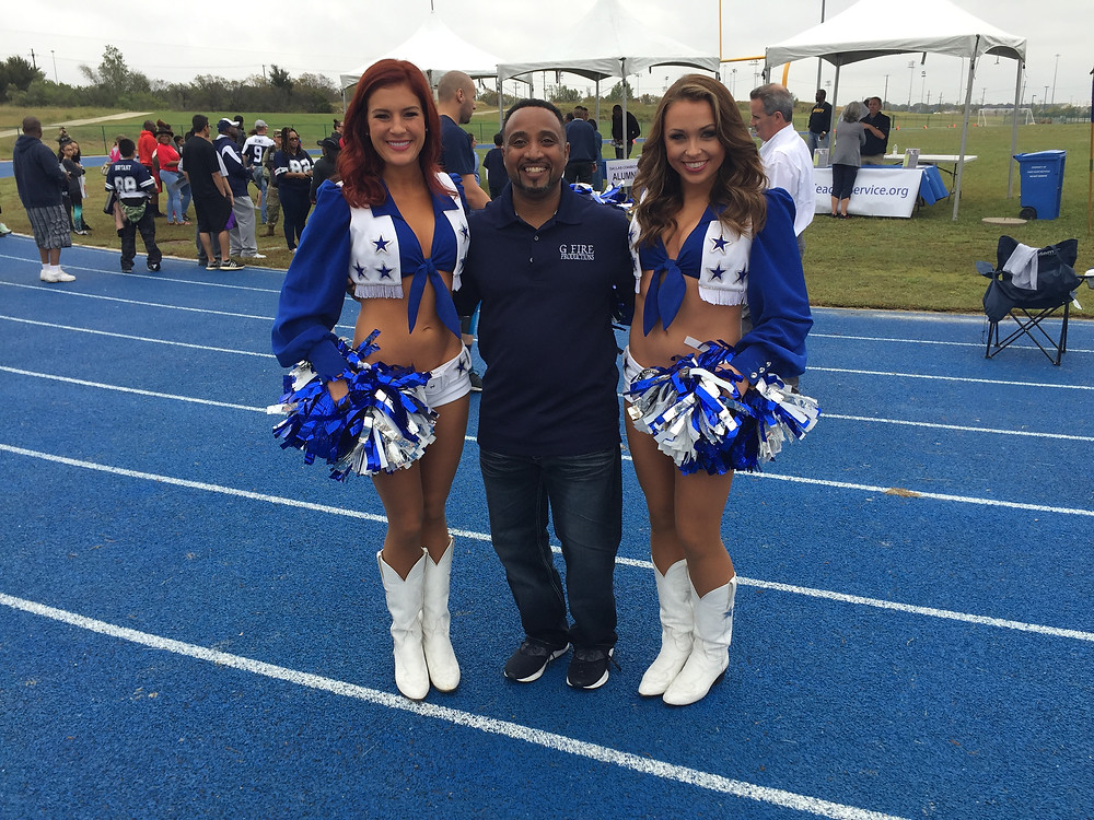 G Fire with the Dallas Cowboys Cheerleaders