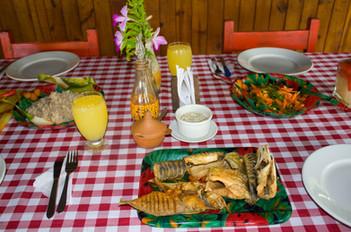Pescado frito en Pijibalodge