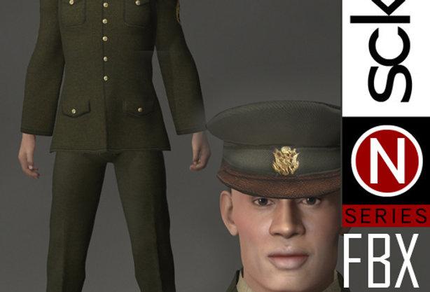 N Series MILITARY Soldier Man 1D FBX