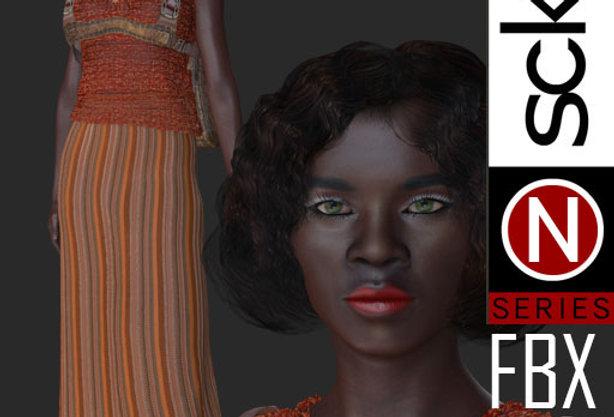 N Series Fashion Model Woman 9  FBX
