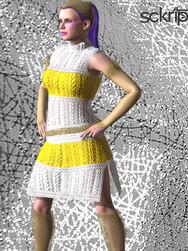 cyber-punk knit dress bundle