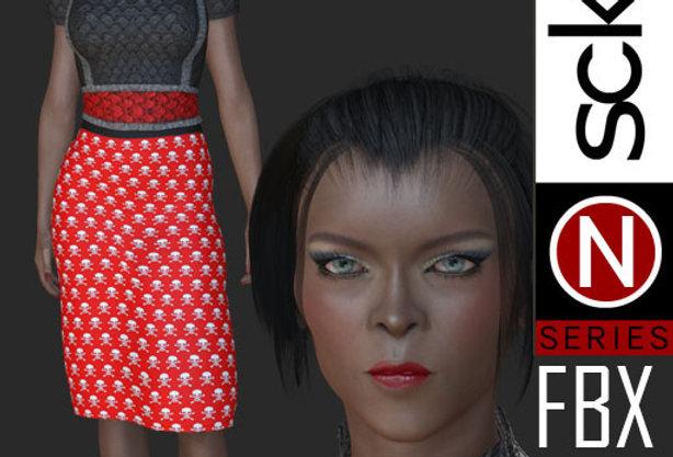 N Series Fashion Model Woman 8  FBX