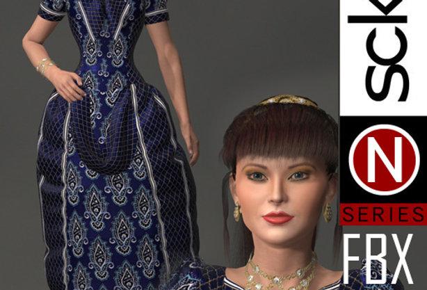 N Series Woman 2 Victorian  FBX