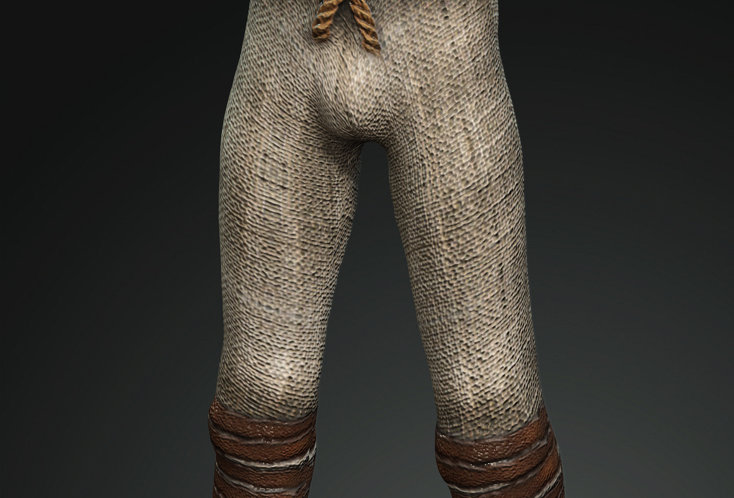 Medieval Man Linen and leather pants