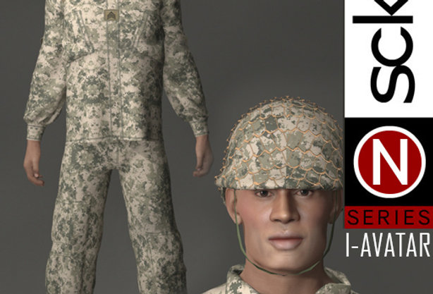N Series MILITARY Soldier Man 1A  I-AVATAR