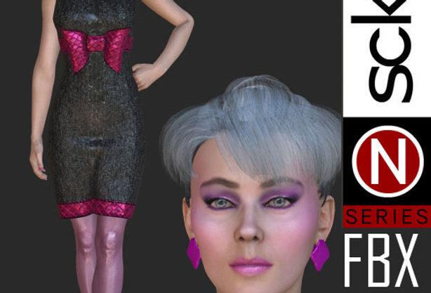 N Series Fashion Model Woman 2  FBX