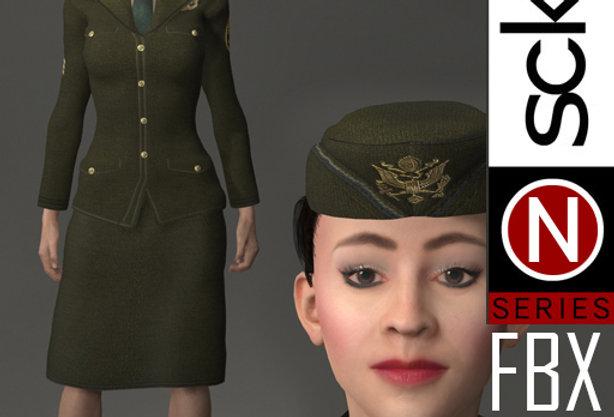 N Series MILITARY Soldier Woman 1A FBX