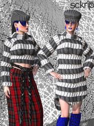 Knit sweaters look bundle