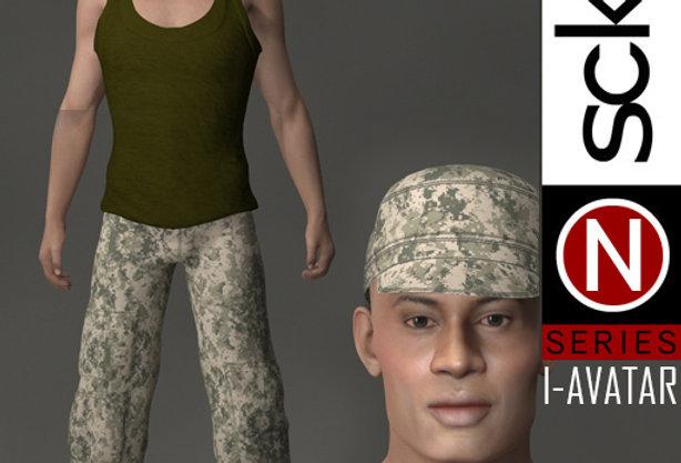 N Series MILITARY Soldier man 1B  I-AVATAR