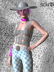 Strap top & checker pants bundle