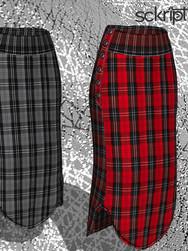 plaid long skirts