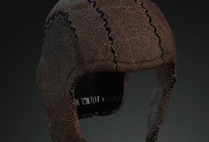 Medieval Leather Hood