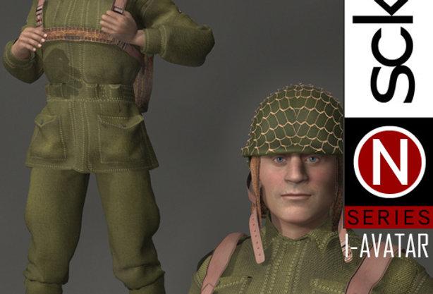 N Series MILITARY WW2 Man 1B  I-AVATAR