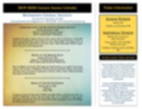 RCS Brochure trifold, 2019-20 season, NO