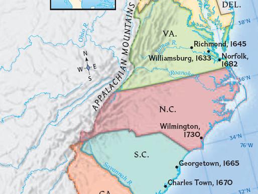Специфика развития Виргинии и других южных колоний