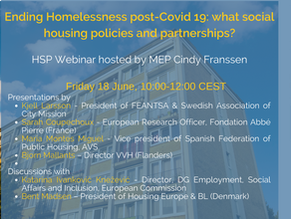 Ending Homelessness in post-Covid 19 times: what policies and partnerships in the housing sector?