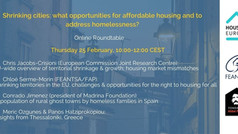Shrinking cities: what opportunities for affordable housing and to address homelessness?