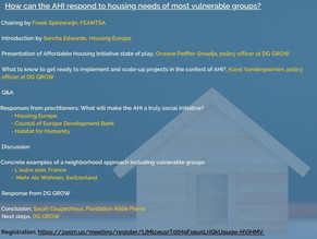 How can the Affordable Housing Initiative respond to the housing needs of most vulnerable groups?