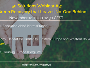 12 November/ HSP #50Solutions Webinar 3: For a Green Recovery that Leaves No-one Behind