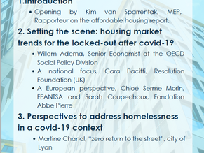 Perspectives on lasting housing solutions for the homeless after covid-19