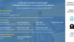 Is the Just Transition Fund enough? A Housing Perspective on Leaving No One Behind