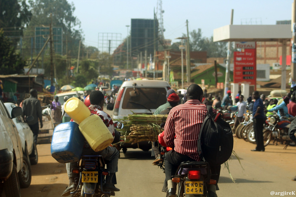 Driving into Kitale town_Saturday