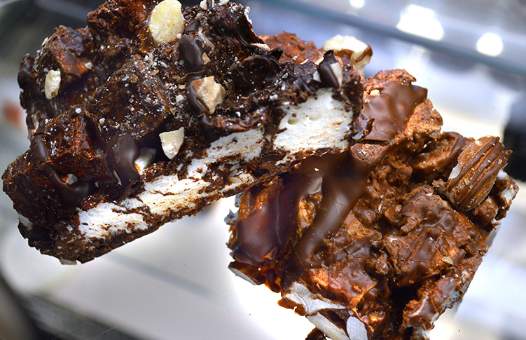 Milk and Dark Chocolate Rocky Road