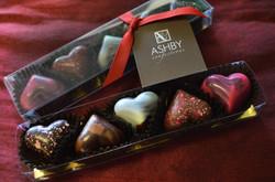 5-pc valentine hearts box