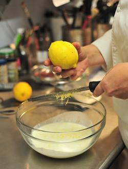Zesting Meyer Lemons
