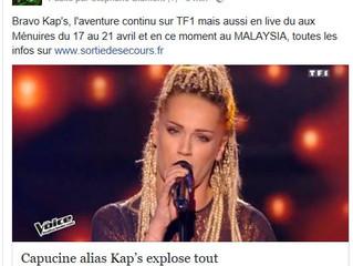 THE VOICE TF1 Kap's Félicitation !!!